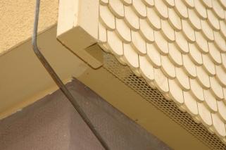 Fassadenhinterlüftung und Anschluss