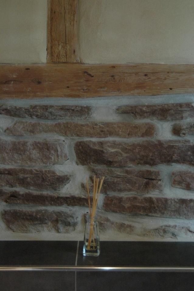 Ausfachung im denkmalgeschützen Haus mit Lehm